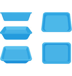 Catlit box on white background vector