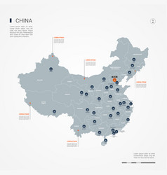 China infographic map vector