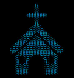 christian church collage icon of halftone circles vector image