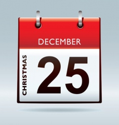 Christmas day calendar vector image