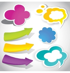 colorful speech bubbles and arrows for your text vector image