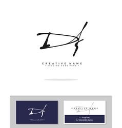 D f df initial logo signature handwriting vector