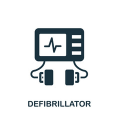 Defibrillator icon simple element from medical vector