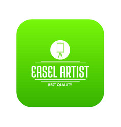 easel artist icon green vector image