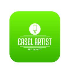 Easel artist icon green vector