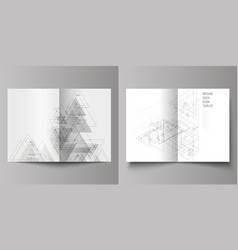 Editable layout of two a4 format cover vector