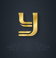 elegant gold font Letter Y Template for company vector image