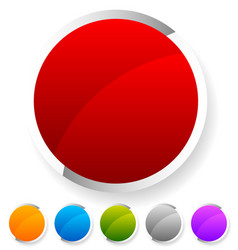 empty circle buttons badges colorful bright vector image