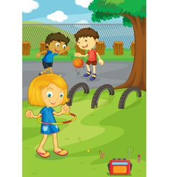Friends in the park vector