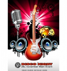 global music event background vector image