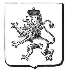 Great seal bulgaria is a european coat of vector