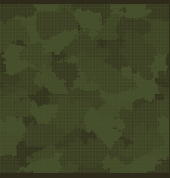 Green pixel camouflage seamless pattern vector