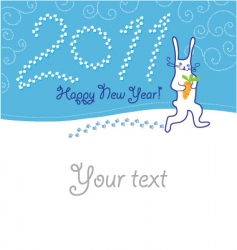greeting card with hare vector image