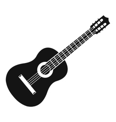 Guitar icon simple style vector image