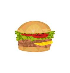 Hamburger Low Polygon vector image
