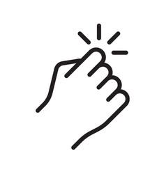 hand knocking on door icon vector image
