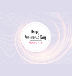 happy womans day greeting card design with light vector image