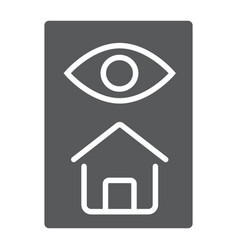 Home inspection glyph icon real estate and home vector