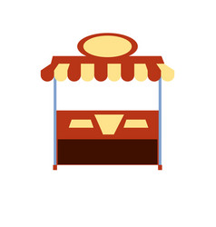 Ice cream shop kiosk isolated icon vector