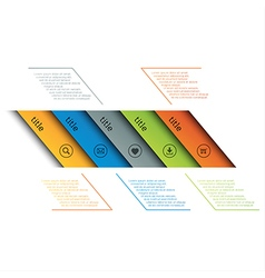 Infographic template simple timeline vector image