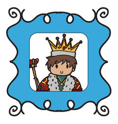 king doodle style vector image