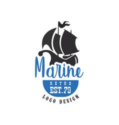 Marine retro logo design est79 vintage badge for vector