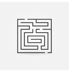 Maze thin line icon vector image vector image
