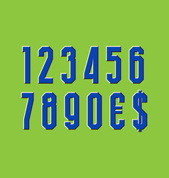 Moving numbers and currency signs optical vector
