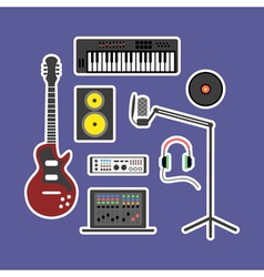 Music production icons vector