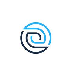 o letter circle line logo icon design vector image