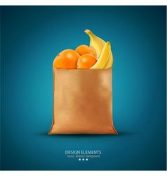 Pack with fruit vector