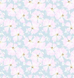 pattern with flowers rose hips vector image