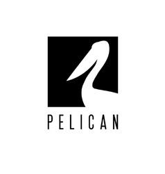 Pelican design template vector