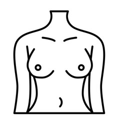 perfect woman body thin line icon female figure vector image