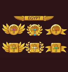 Receiving cartoon game achievement egyptian vector