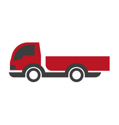 Red and black truck vector