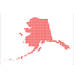 red dot map of alaska vector image