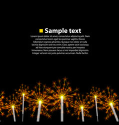 Seamless background sparkler vector