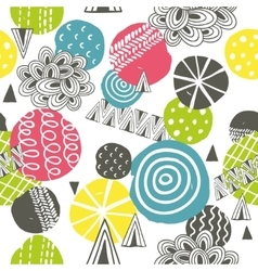 Seamless pattern with bright abstract shapes vector image