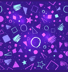 seamless ultraviolet geometric pattern vector image vector image