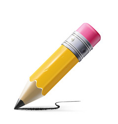 Sharp pencil isolated on vector