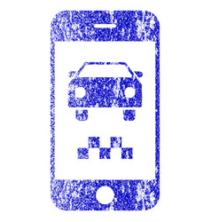 Smartphone taxi car textured icon vector