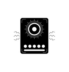 speaker noise melody sound music silhouette style vector image