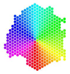 Spectrum hexagon thassos greek island map vector