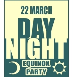 Spring equinox day party banner vector