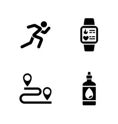 Sprint simple related icons vector