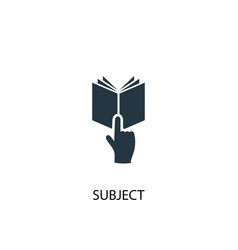 Subject icon simple element vector