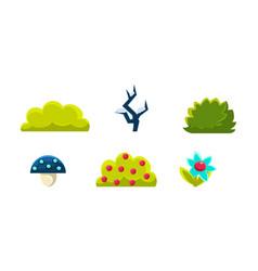 summer nature landscape elements set gaming vector image
