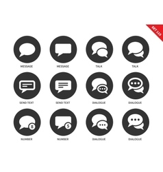 Talking bubble icons on white background vector