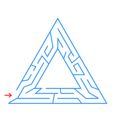 Triangular labyrinth with an input and an exit vector